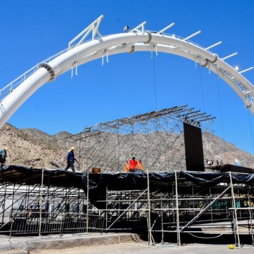 """Visita al imponente escenario de """"Sueños de Libertad - El Cruce de Los Andes"""""""